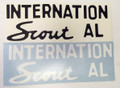 Decal for INTERNATIONAL SCOUT 80 and 800 tailgate