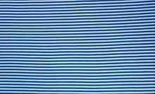 Blue White Stripe Ribbing LS