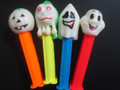 Glowing Ghost Halloween pez (heads glow), mint, loose