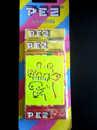 Refill Pez Striped Card with Pez Stencil & Old style Candy packs