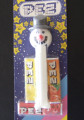 Christmas  SNOWMAN Pez on Retired European Starry Card