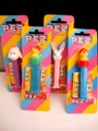Retired Easter Pez SET of 4 on EUROPEAN Striped Candy Bonbons Cards
