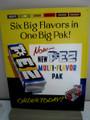 """Large PEZ Metal Advertising Sign -Pez Candy 12 1/2"""" x 16"""""""