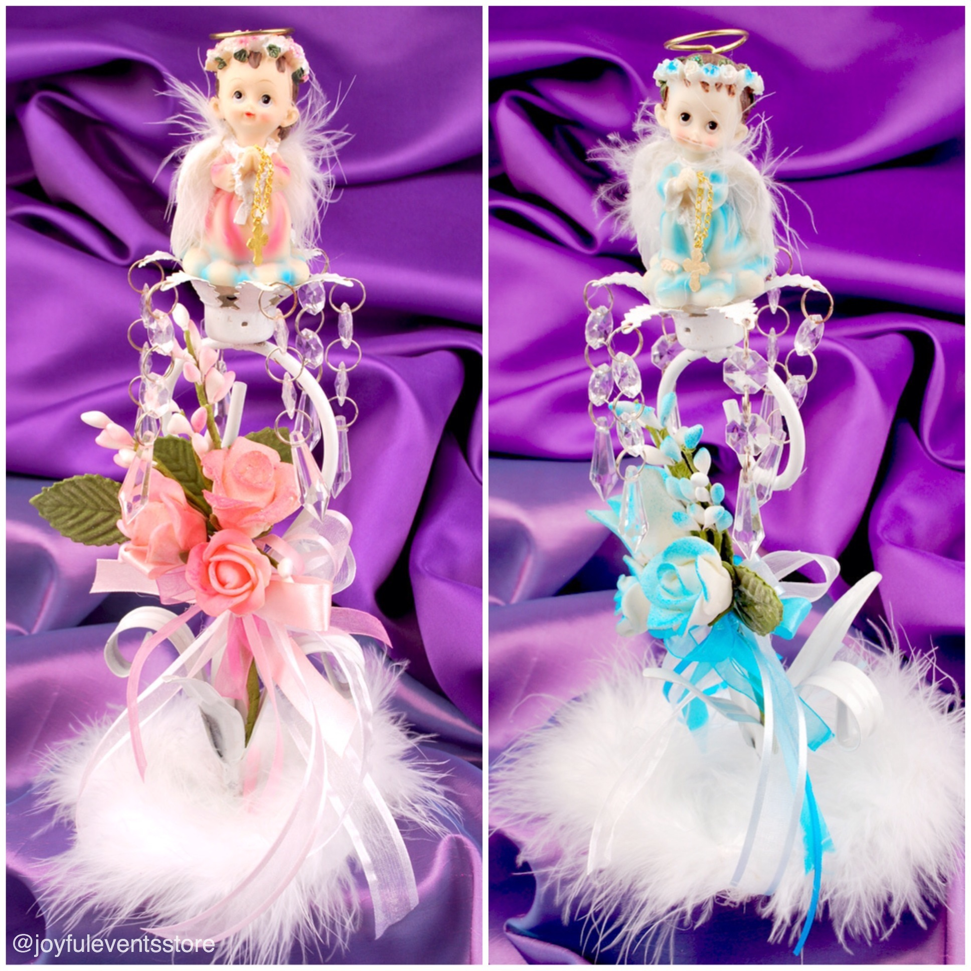 Beautiful Baptism Centerpieces - Joyful Events Store