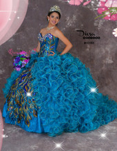 Peacock Quinceanera Dress #10163JES