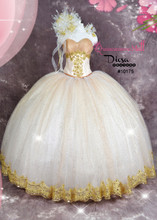 Extra Poofy Quinceanera Princess Style Dress #10175JES
