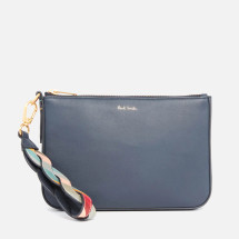 Dimensions: H: 16.5cm x W: 21.5cm  Colour: Navy Material: Leather Brand: Paul Smith