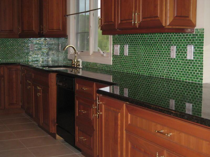 Captivating Mosaic Glass Backsplash Tiles