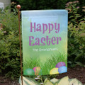 Personalized Easter garden flag with Easter Eggs.