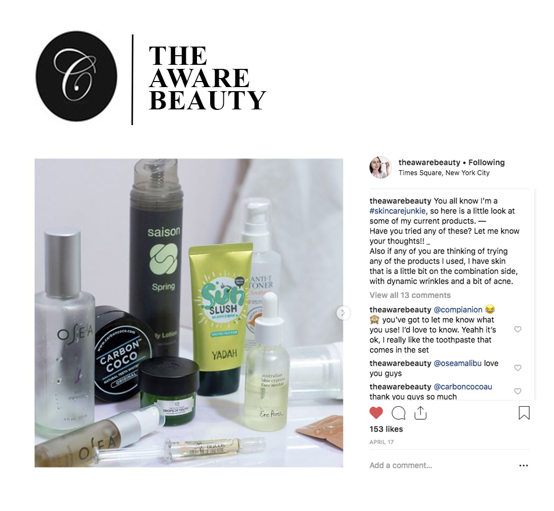 The Aware Beauty Spring Skincare Junkie With Saison Organic Skincare