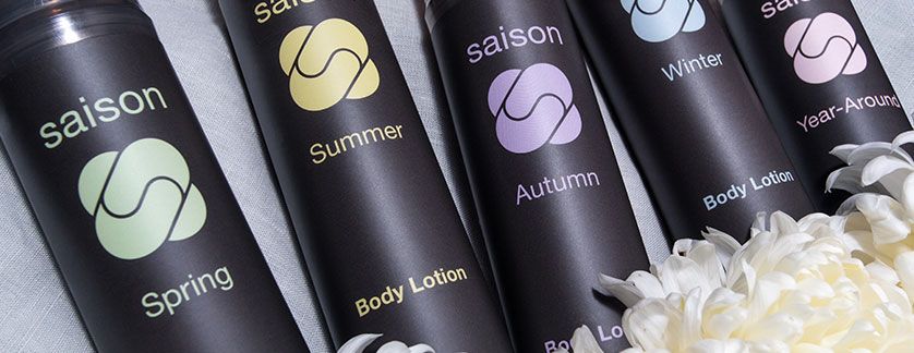 Premium organic body lotions for all seasons from Saison #organicskincare #saison