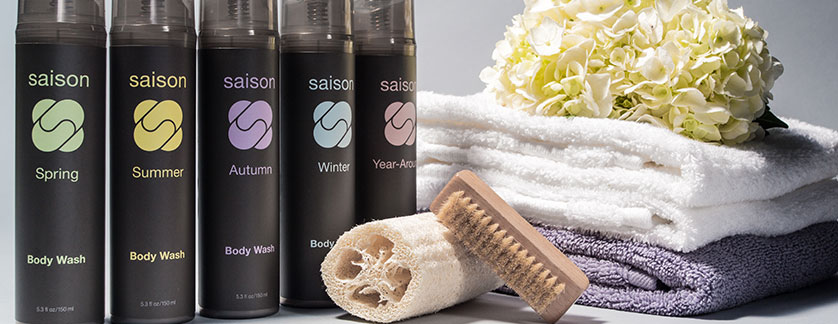 premium organic body washes for all seasons from Saison #organicskincare #saison