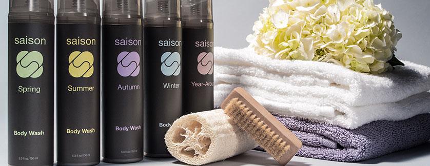 premium organic body washes for all seasons from Saison #organicskincare #saison