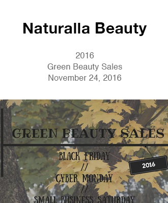 Saison 2016 Green Beauty Sales in Naturalla Beauty