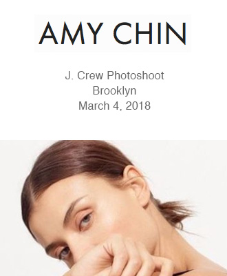 Amy Chin Beauty J Crew PhotoshootUsing Saison Organic Skin Care