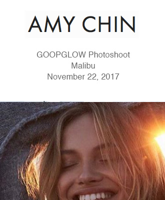 Amy Chin Beauty GoopGlow Photoshoot using Saison Organic Skin Care