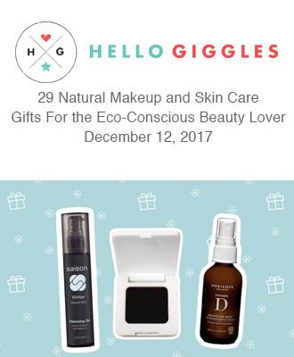 Hello Giggles Eco Gifts Holiday Gift Guide With Saison Organic Skin Care