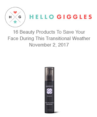 Hello Giggles Finds the Best Transitional Weather Products with Saison Organic Skin Care