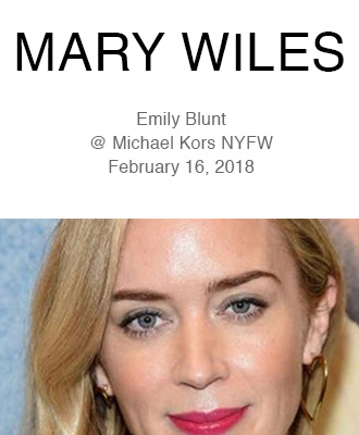 Mary Wiles Makeup With Emily Blunt Using Saison Organic Skin Care