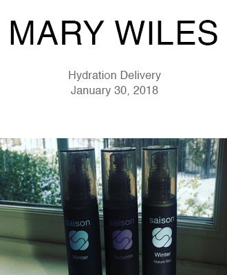 Mary Wiles Makeup Hydration Delivery with Saison Organic Skin Care