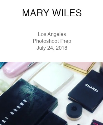 Mary Wiles Make Up LA Photoshoot Prep with Saison Organic Skin Care