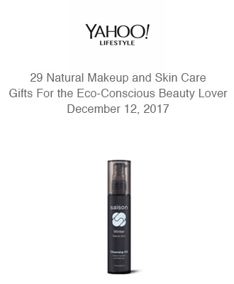 Yahoo Lifestyles Hello Giggles Eco Gifts Holiday Gift Guide With Saison Organic Skin Care