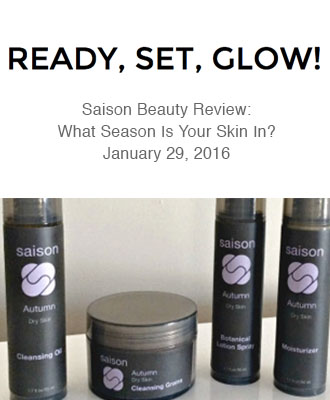 Saison Autumn Collection in Ready, Set, Glow