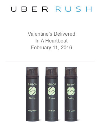 Saison Spring Collection in UberRUSH Valentine's Gift Guide