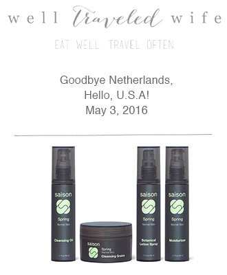Saison Organic Skincare in Well Traveled Wife