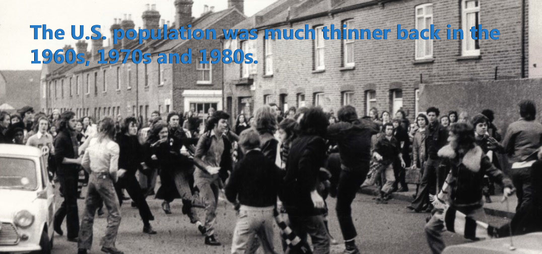 Picture of a student protest in the 1970s