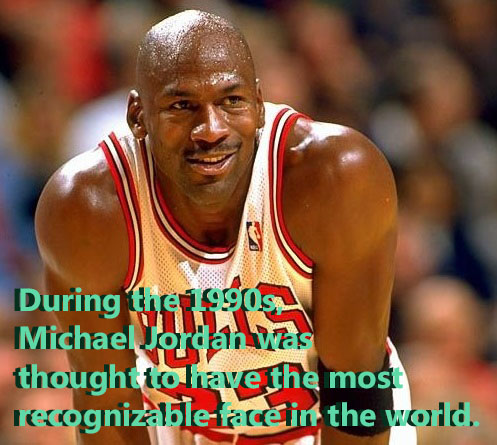 Michael Jordan was once considered to have the most recognizable face in the world.