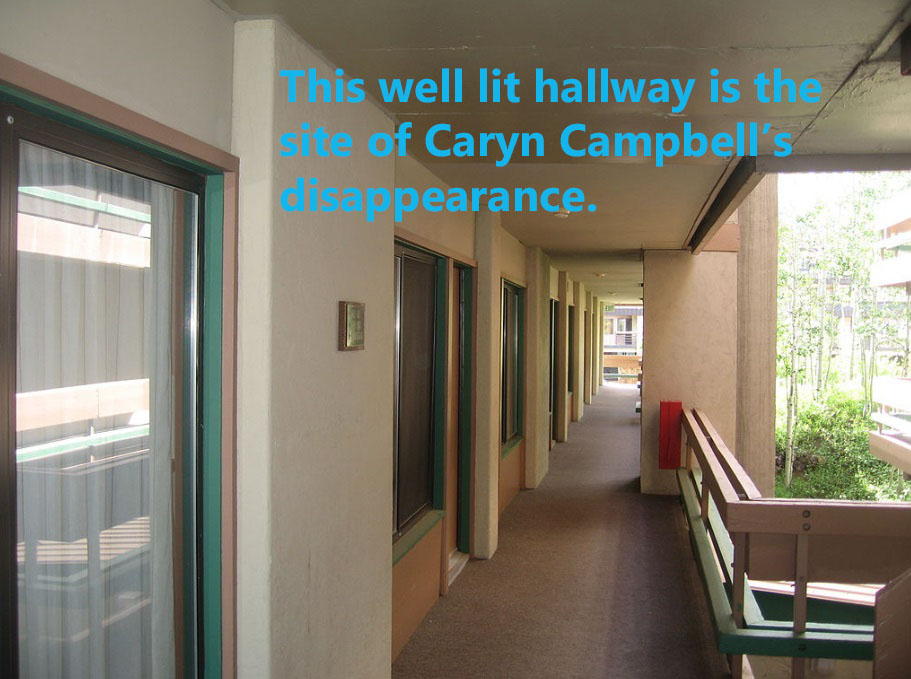 The hallway where Caryn Campbell disappeared