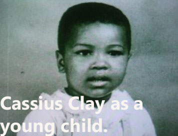 Cassius Clay as a young child