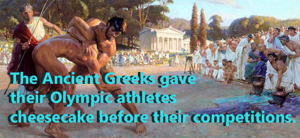 Ancient Greek Olympians were served Cheesecake before competitions
