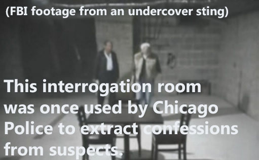 This is a picture of a Chicago Police Department room used for extracting confessions from suspects