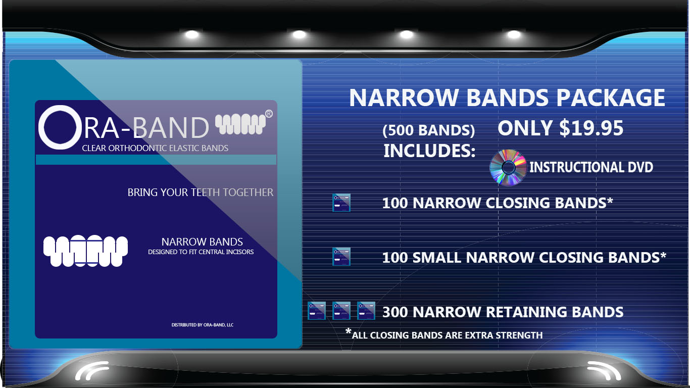 ORA-BAND -  500 Bands per order (Includes Extra Strength Closing Bands and Retaining Bands)