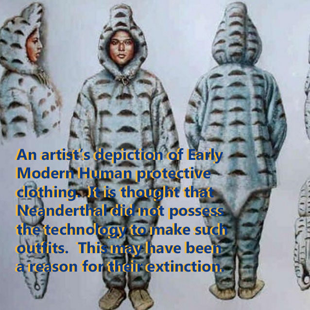 Early Modern Human Cold Weather Clothing
