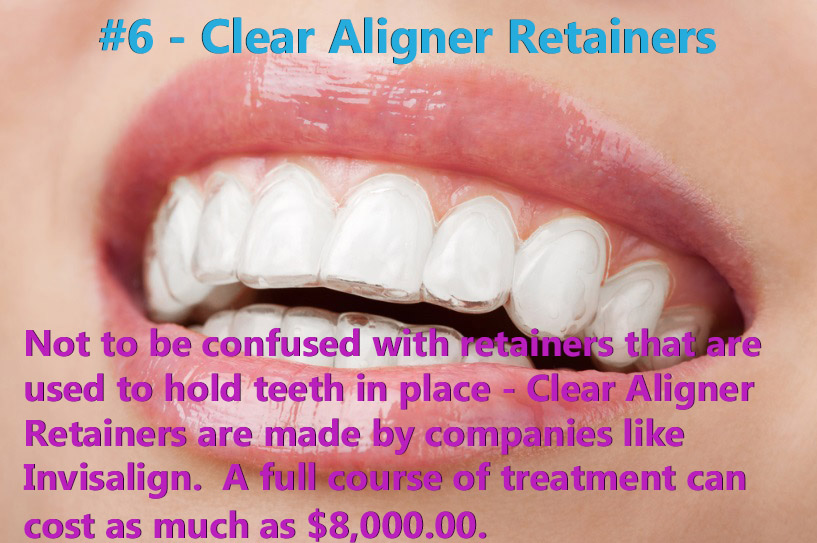 Clear Aligner Retainers were ranked #6.
