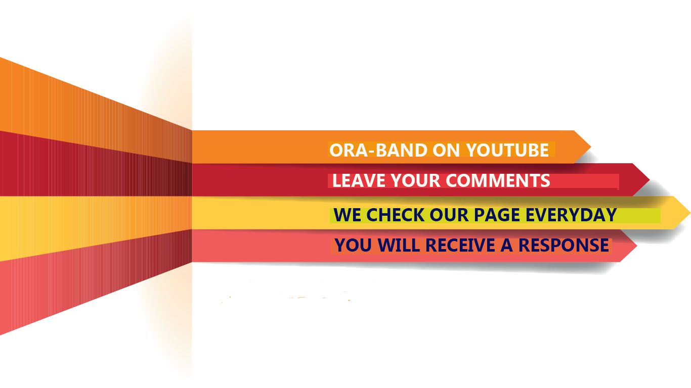 THIS IS A PICTURE OF ARROWS THAT DIRECT VIEWERS TO ORA-BAND® YOUTUBE QUERYING