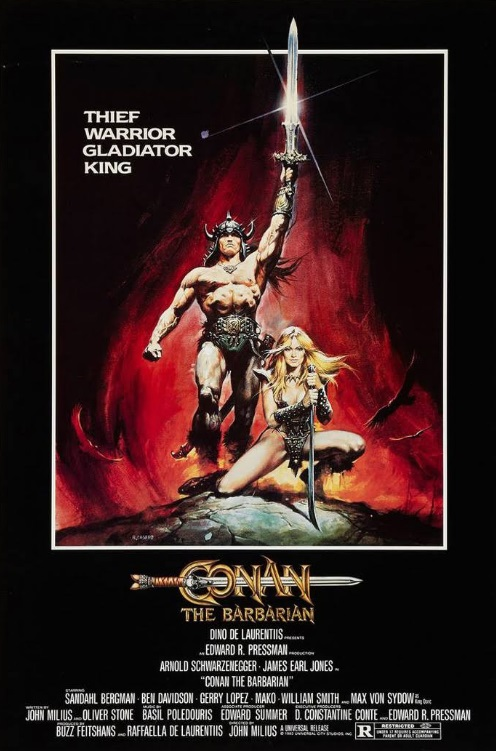 Promotional poster for Conan The Barbarian