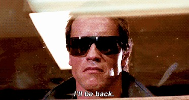 The Terminator says his most popular line in this scene