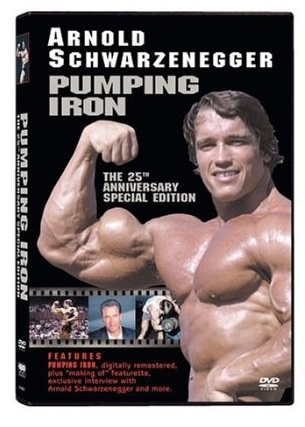 Packaging for the 25th Anniversary Edition of Pumping Iron on DVD