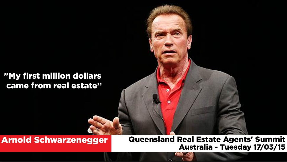 Arnold Schwarzenegger earned millions of dollars from real estate before he became a movie star.