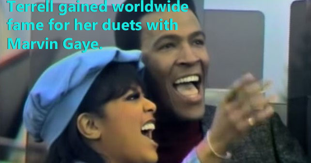 Tammi Terrell and Marvin Gaye perform a duet together