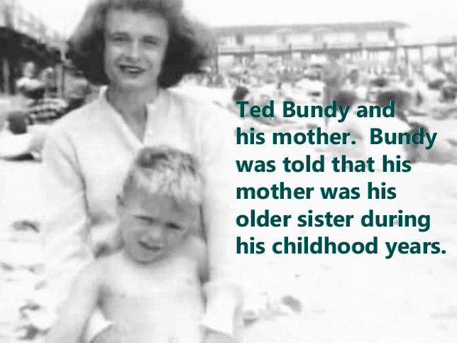 A young Ted Bundy and his mother