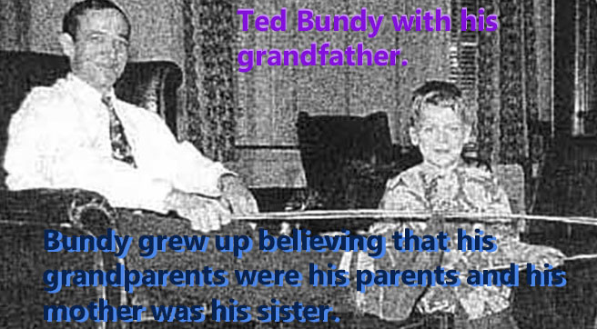 Ted Bundy with his grandfather
