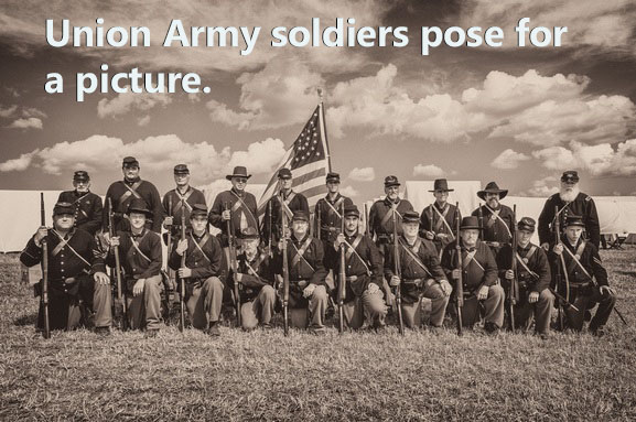 A picture of Union Army soldiers