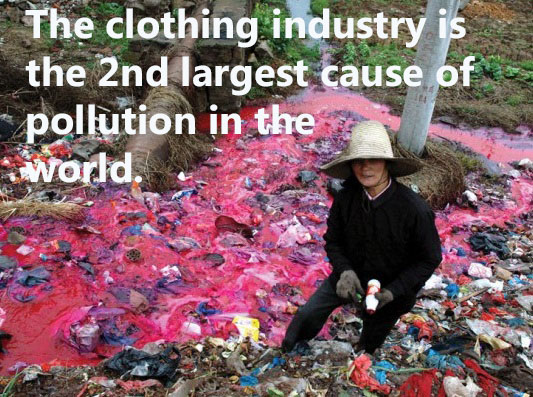 Waters polluted by the clothing industry