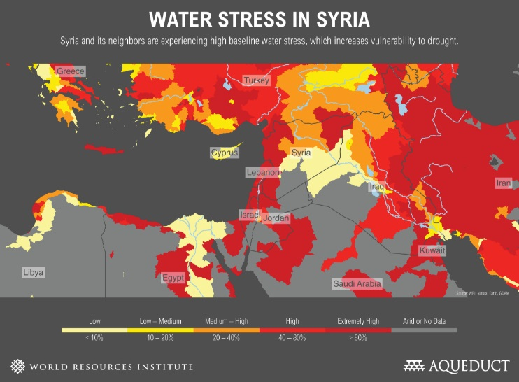 Water stress in Syria