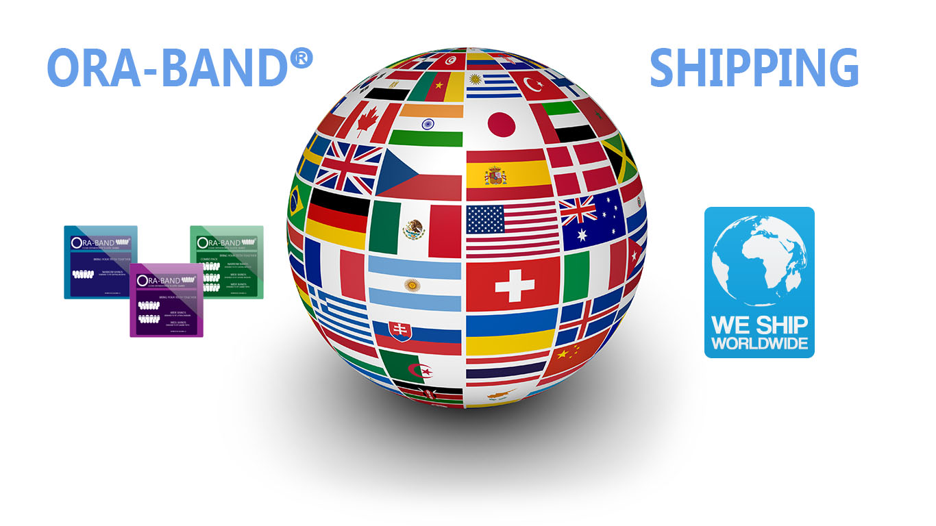 ORA-BAND® WORLDWIDE SHIPPING ICONS